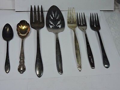 Asst Lot of Misc. Silver Plated Silver Ware Serving Pieces See Description #11AA