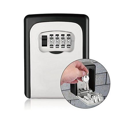 Key Storage Lock Box Wall Mounted Key Lock Box 4-Digit Combination for House or