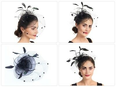 Womens Kentucky Derby Fascinator Church Cocktail Party Wedding Dress Bridesmaid