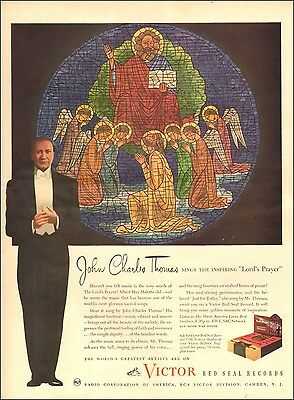 1942  AD VICTOR Red Seal Records John Charles Thomas , The Lord's Prayer  062717
