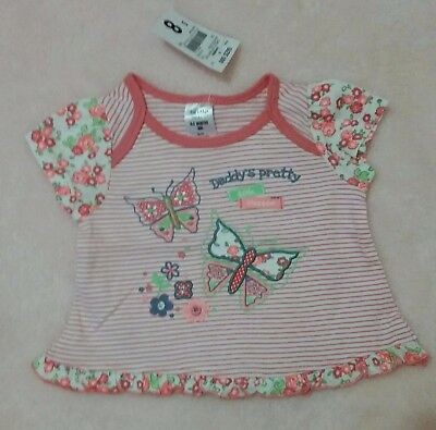 Tiny Little Wonders Size 000 - Baby Girls Orange Top - New with Tags - Kmart