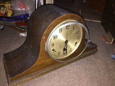 NAPOLEON HAT VINTAGE OLD CLOCK SPARES OR REPAIR Westminster Chimes