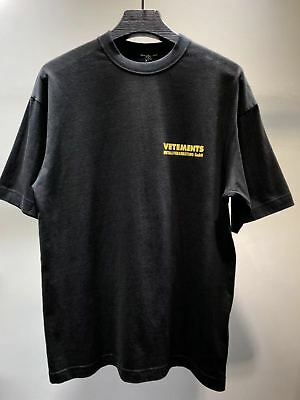 Falectoin 18SS Vetements YELLOW LETTERS PRINT Cotton Tshirt