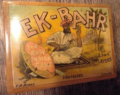 F H AYRES LONDON EK-BAHR THE NEW INDIAN GAME BOXWOOD TREEN WOODENWARE & Counters