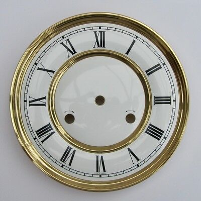 Original Hermle clock dial 180mm diameter from Hermle 241 movement nearly new