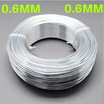 0.6mm Aluminium Craft Florist Wire Jewellery Making Silver 10m lengths