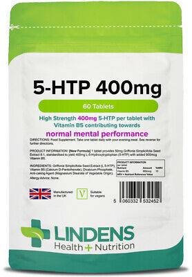 5 HTP 100mg - 60 Tablets - [Lindens 2452]