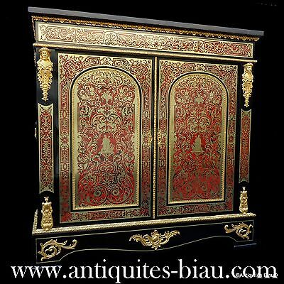 Antiques French Furniture 2 doors in Boulle marquetry 19th Napoleon III period
