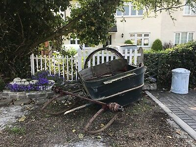 Old Antique Pony Trap And Cart