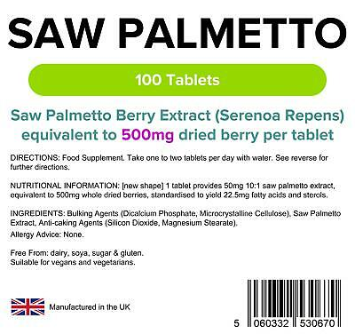 Lindens Saw Palmetto 500mg Tablets (100 pack)