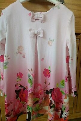 Baby girls pink floral TED BAKER DRESS dress age 18 -24 months