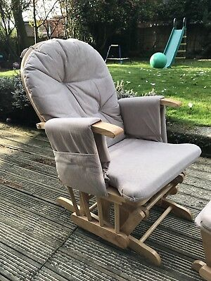 Kiddicare Reclining Gliding Rocking Nursing Maternity chair with footstool