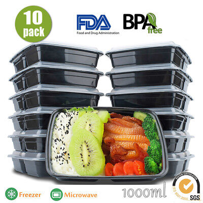 10/20X Take away Plastic Food Containers Meal Prep Microwavable Lunch Box Lids