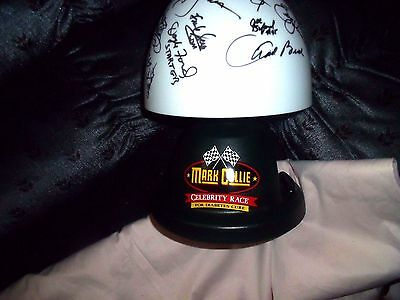Mark Collie Celebrity Race Coleman Deluxe Table Lamp Clock With Signatures