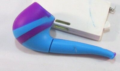 "SILICONE TOBACCO Camo PIPE With Metal BOWL BUILT IN SCREEN 4"" BLUE & PURPLE"