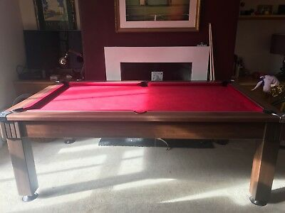 FT HLD WINDSOR Slate Bed Pool Dining Table Red Smart Cloth Dark - Pool dining table 7ft