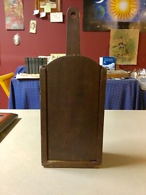 Antique Wall Hanging Candle Box, AWESOME PRIMITIVE PIECE!