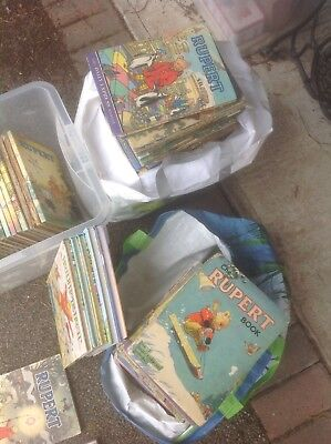 rupert bear annuals 60s and 70s