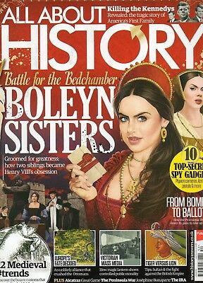 """ALL ABOUT HISTORY"" Magazine- Issue 52- THE BOLEYN SISTERS-KENNEDYS- FINE cond."