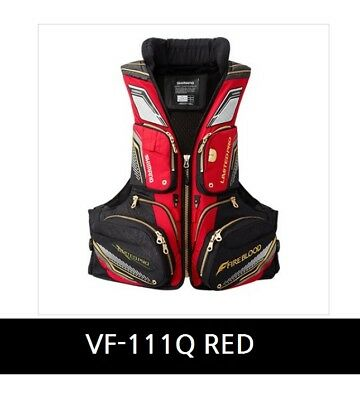 Shimano Nexus Floating vest VF-111Q Limited pro Size RED M