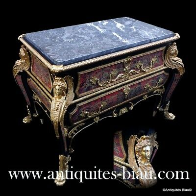 Dresser - Commode in Boulle marquetry 21th  Napoléon III style - perfect