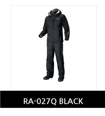 Shimano RA-027Q DS Basic Suit SIZE Black M Breathable-Waterproof