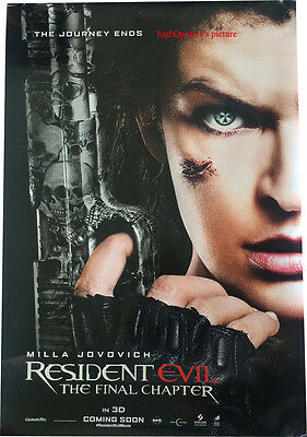 Resident Evil The Final Chapter ORIGINAL Double Sided 27x40 DS POSTER #A