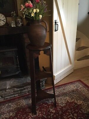 arts and crafts oak Plant Stand
