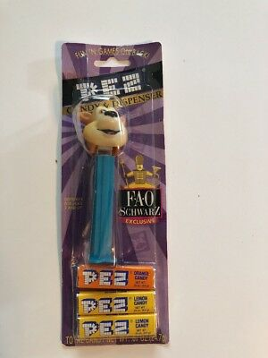 Vintage Fao Schwarz Bear Pez Dispenser Carded With Candy Made In Hungary Unopene