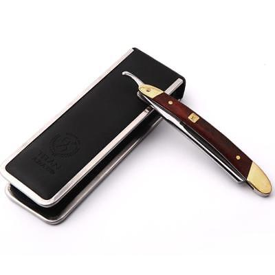 Japan VG-10HZ Steel Straight  Razor Men Shaving Titan Razors Wood Handle Barber