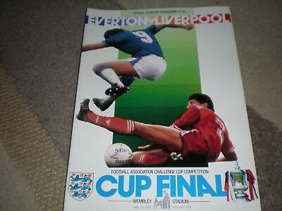 1986 Fa Cup Final: Everton  V Liverpool Complete With Match Report