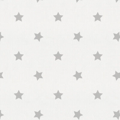 Pottery Barn Kids Star Flannel Crib Fitted Sheet ~ Gray Grey