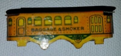 Cracker Jack Baggage and Smoker Car - Tin Toy