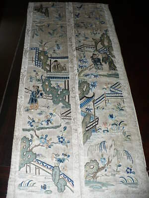 Beautiful Antique Chinese Silk Embroidery Textile Robe Sleeve Band