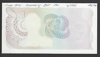 Luxembourg 20 Francs ND 1967 P53s Proof Specimen Trial Color Uncirculated