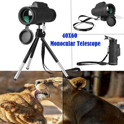 40X60 Monocular Telescope Night Vision Prism Scope With Phone Clip Tripod ZD
