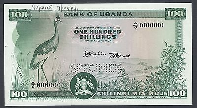 Uganda 100 Shillings ND 1966 P5s Specimen Perforated Uncirculated