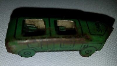 Cracker Jack Green Tin Car - Rust on Outside