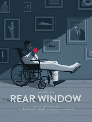 Mondo REAR WINDOW by Stephan Schmitz -Numbered LE Screen Print Poster