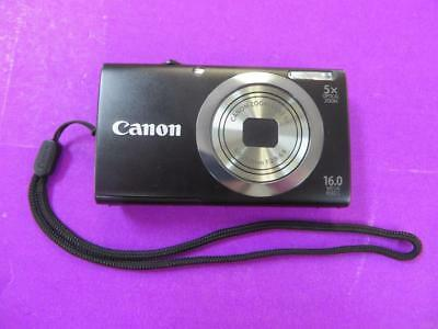Canon PowerShot A2300 HD 16MP Digital Camera Black (PC1732) - Tested & Works!