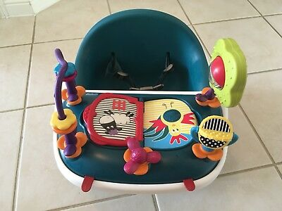 mamas and papas teal bud booster seat with tray and activity set