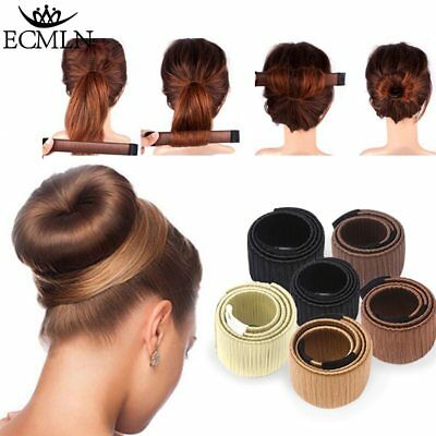 Hair Accessories Synthetic Wig Donuts Bud Head Band Ball French Twist Magic Diy1