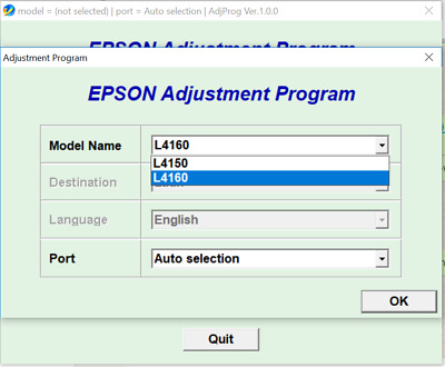 Reset Epson L4150, L4160 Reset ink pads counter 100%, Adjustment Program