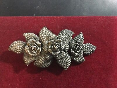 Victorian Buckle Sash Belt, Two Pieces. Roses.