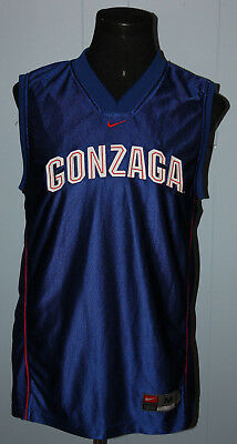 new product a5511 e3872 NIKE GONZAGA BULLDOGS Basketball Blue Jersey M