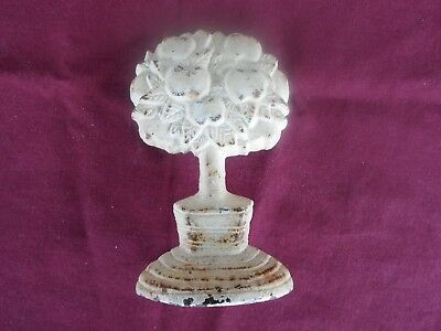 Vintage Cast Iron Small Tree Door Stop Bookend Metal Stopper