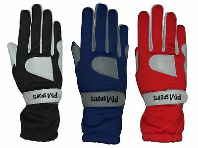Go Kart Karting Racing Gloves - OMARA AND POLYESTER for Better Grip All Sizes