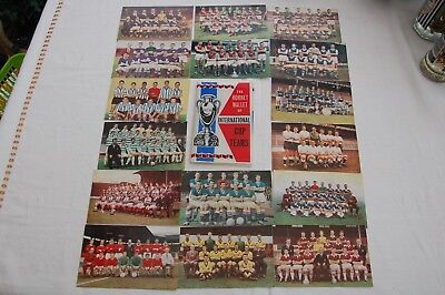 1965 The Hornet Wallet of International Cup Teams Full Set of 16  D.C. Thomson