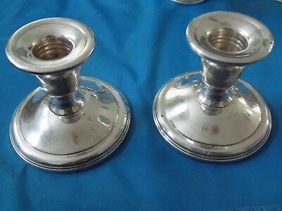 Beautiful Vintage Pair La Pierre Sterling Candlesticks Candle Holders 1850- 1899