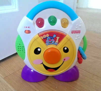 Fisher Price Musical Lights Sounds Cd Player Toy Laugh And Learn Nursery Rhymes